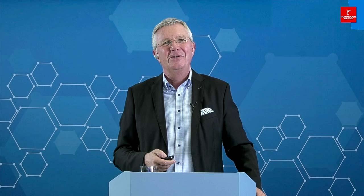 Prof. Dr. Dr. h.c. Michael ten Hompel auf der Hannovermesse 2021